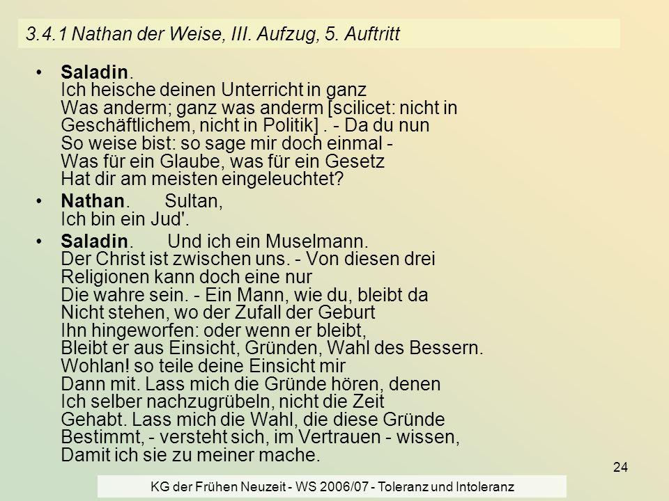 3.4.1 Nathan der Weise, III. Aufzug, 5. Auftritt