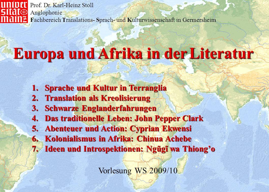 Europa und Afrika in der Literatur