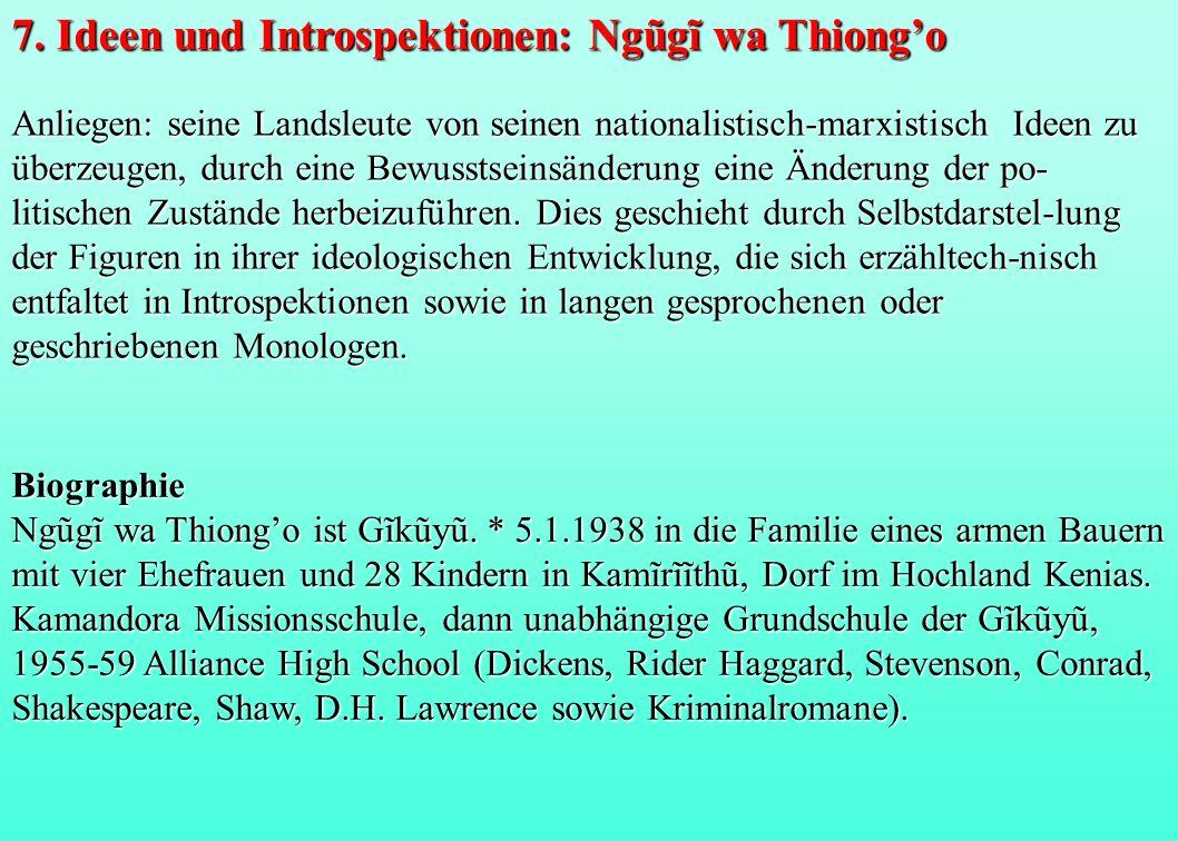 7. Ideen und Introspektionen: Ngũgĩ wa Thiong'o