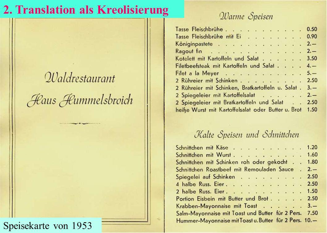 2. Translation als Kreolisierung