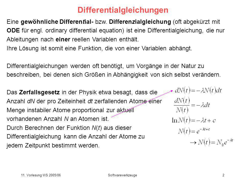 Differentialgleichungen