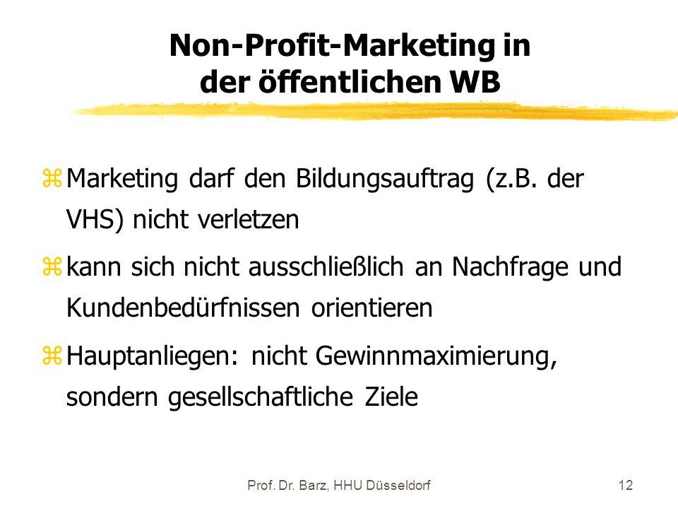 Non-Profit-Marketing in der öffentlichen WB