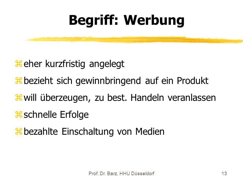 Prof. Dr. Barz, HHU Düsseldorf