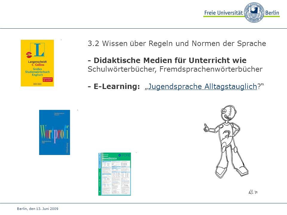 3.2 Wissen über Regeln und Normen der Sprache