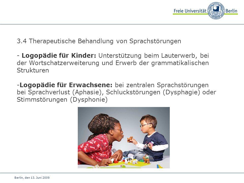 3.4 Therapeutische Behandlung von Sprachstörungen