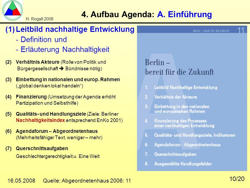 4. Aufbau Agenda: A. Einführung
