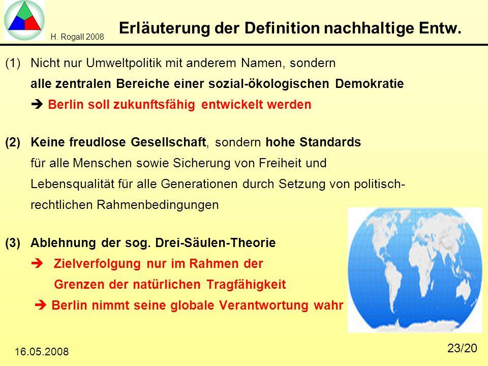 Erläuterung der Definition nachhaltige Entw.