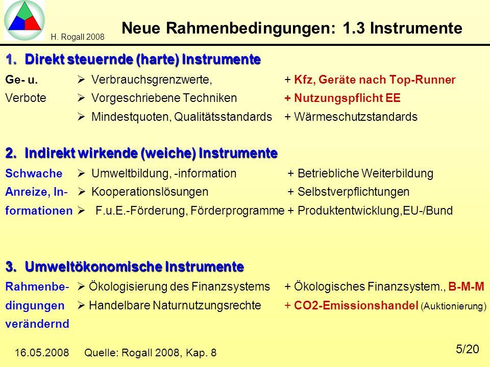 Neue Rahmenbedingungen: 1.3 Instrumente