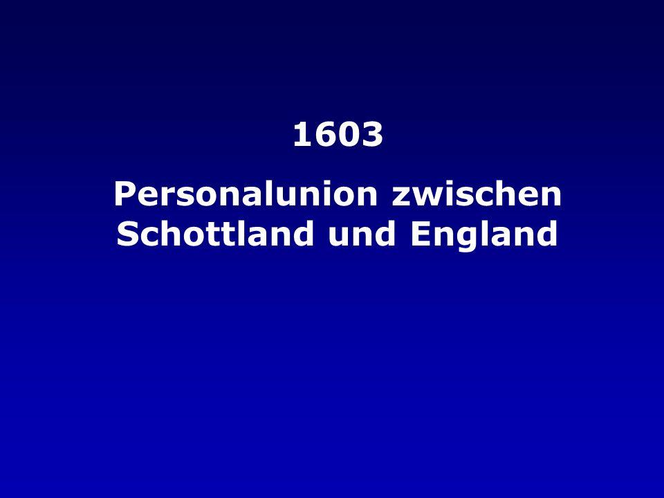 Personalunion zwischen Schottland und England