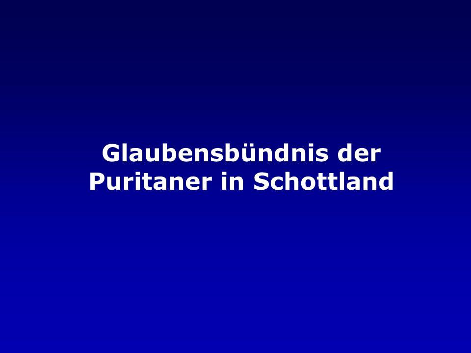 Glaubensbündnis der Puritaner in Schottland