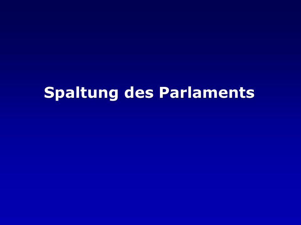 Spaltung des Parlaments