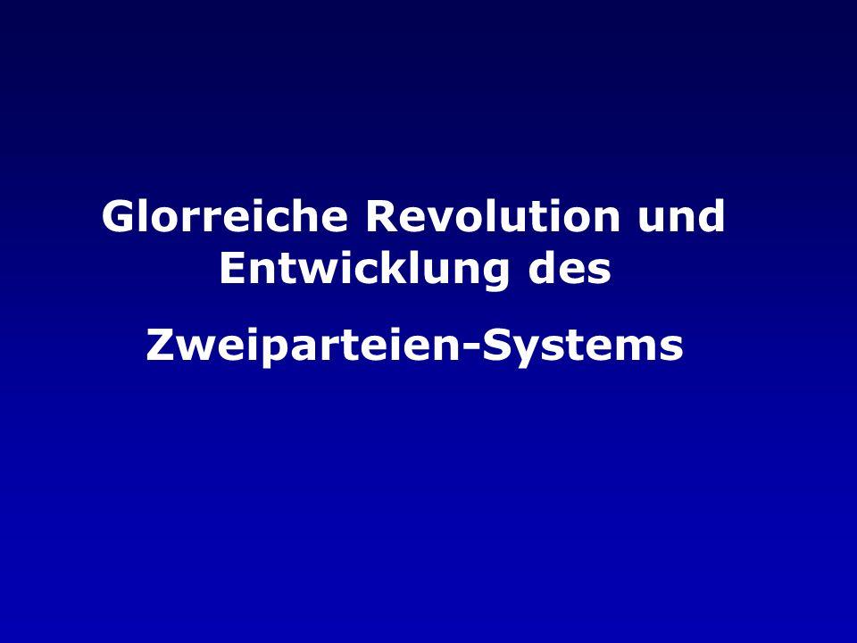 Glorreiche Revolution und Entwicklung des Zweiparteien-Systems