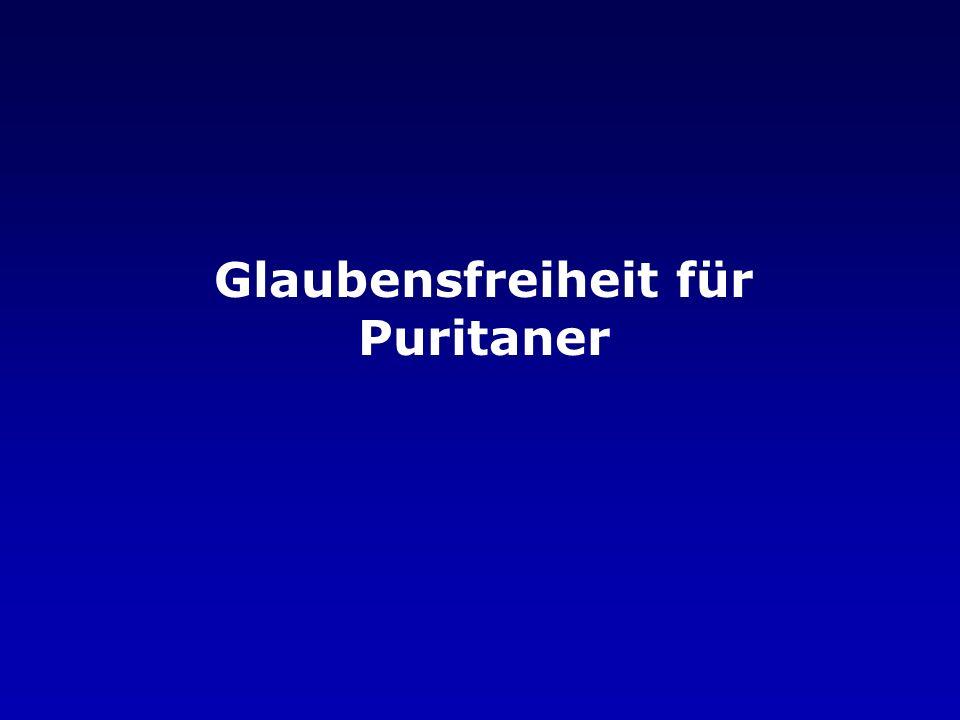Glaubensfreiheit für Puritaner