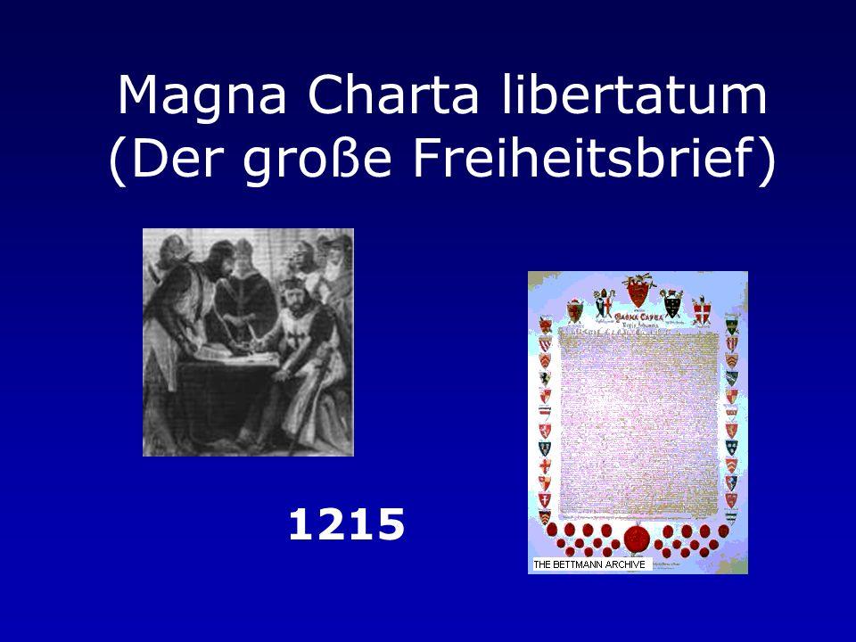 Magna Charta libertatum (Der große Freiheitsbrief)