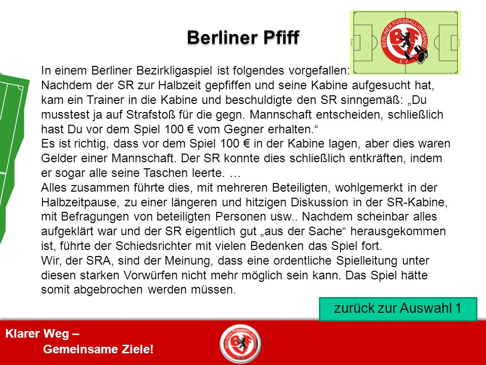 Berliner Pfiff zurück zur Auswahl 1