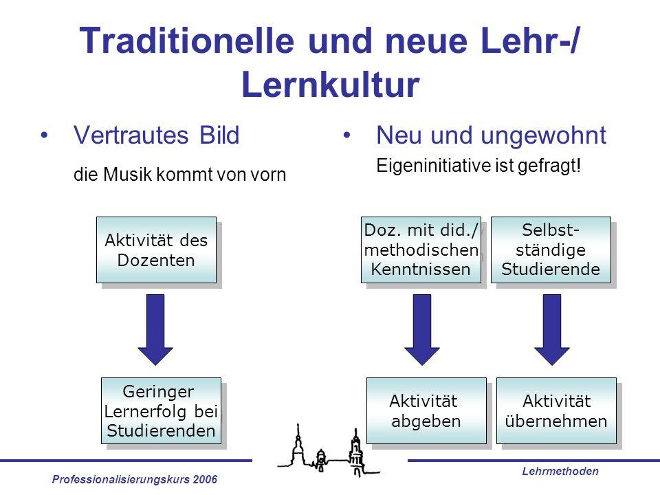 Traditionelle und neue Lehr-/ Lernkultur