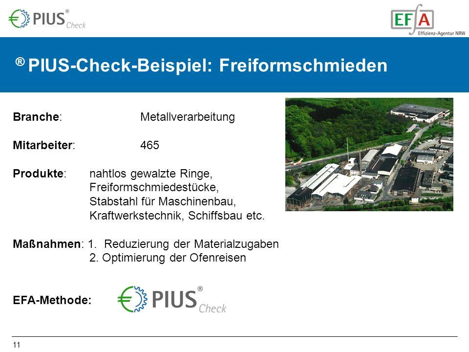 ® PIUS-Check-Beispiel: Freiformschmieden