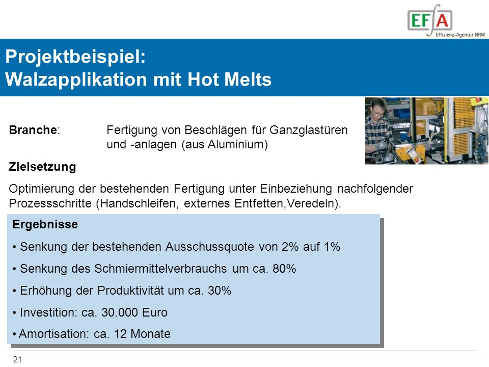 Projektbeispiel: Walzapplikation mit Hot Melts