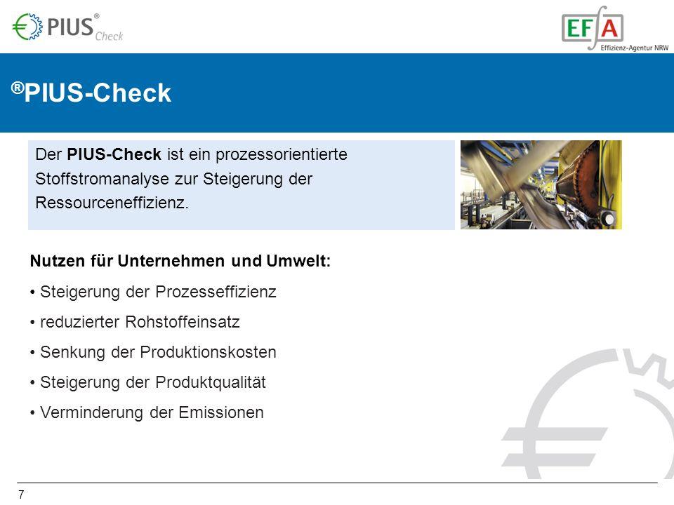 ®PIUS-Check Der PIUS-Check ist ein prozessorientierte