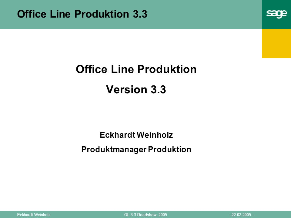 Office Line Produktion 3.3