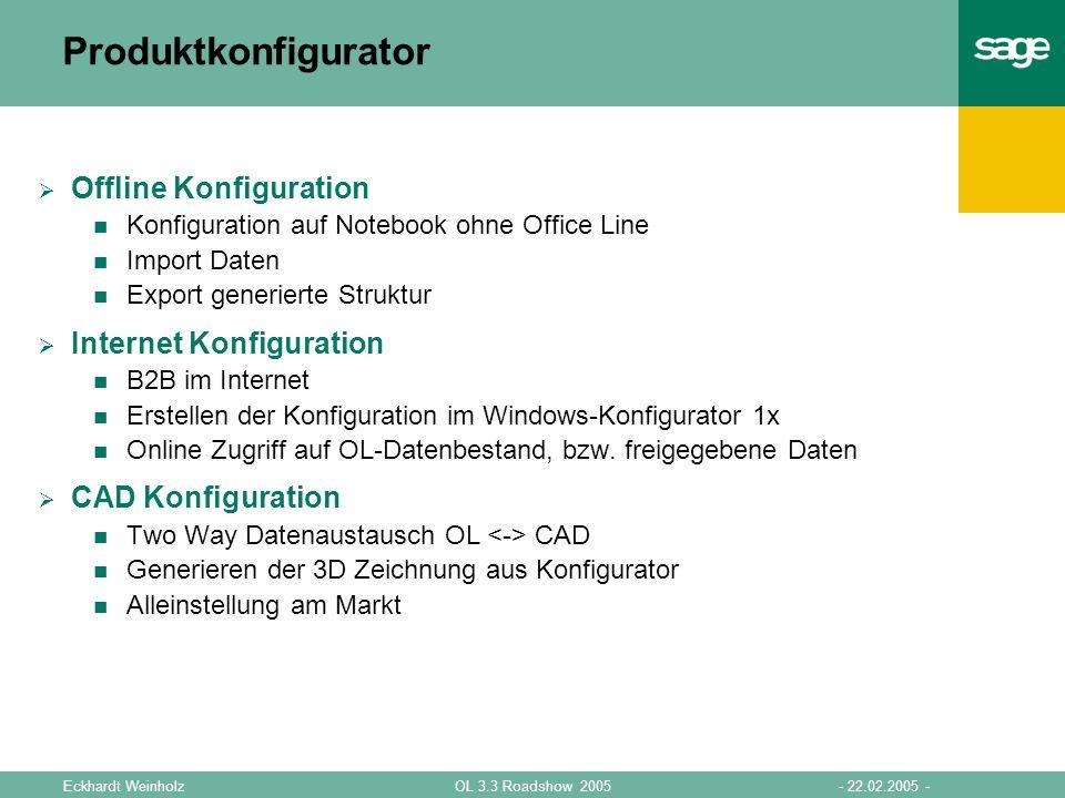Produktkonfigurator Offline Konfiguration Internet Konfiguration