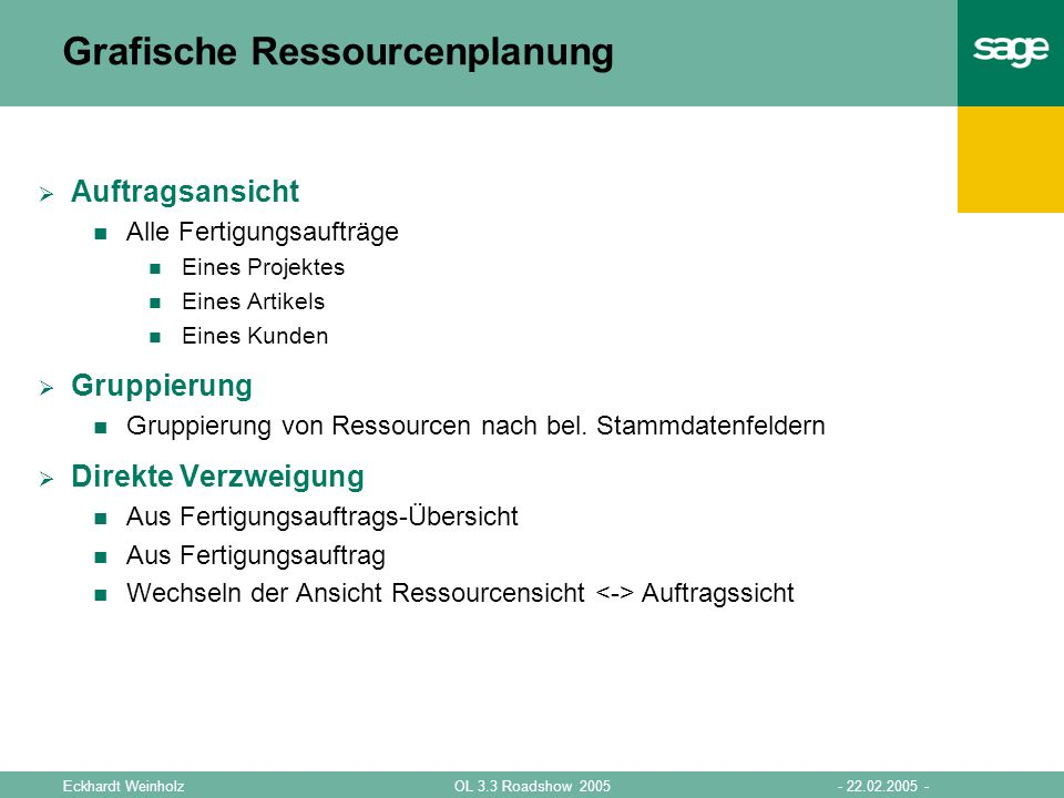 Grafische Ressourcenplanung