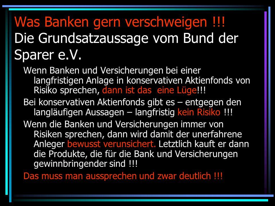 Was Banken gern verschweigen