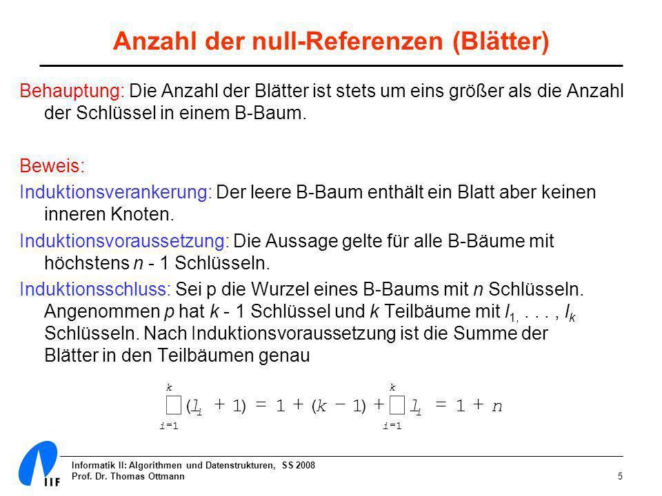 Anzahl der null-Referenzen (Blätter)