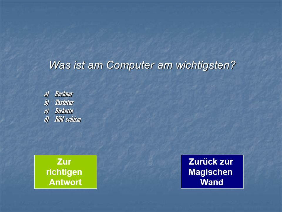 Was ist am Computer am wichtigsten