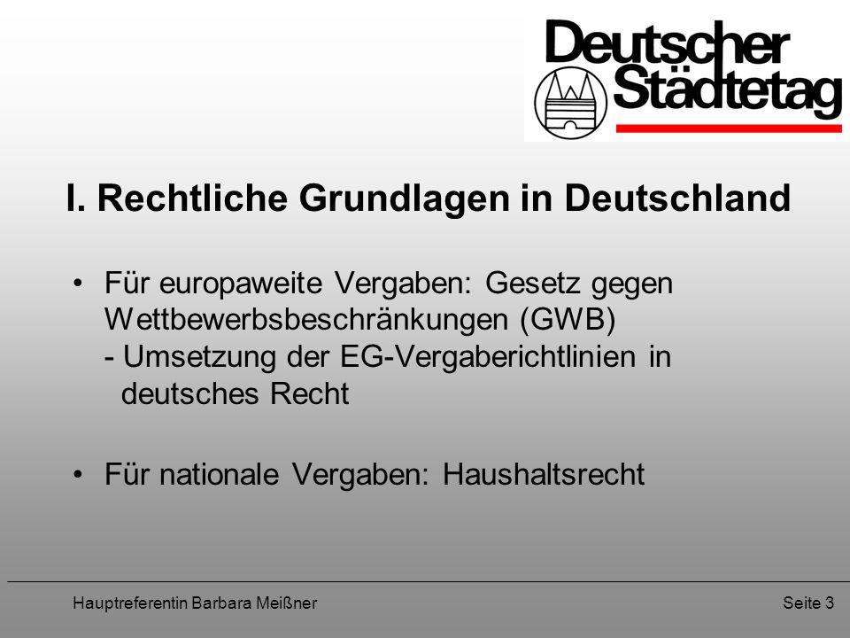 I. Rechtliche Grundlagen in Deutschland