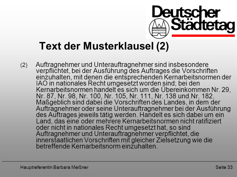 Text der Musterklausel (2)