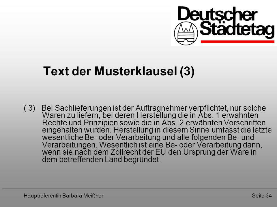 Text der Musterklausel (3)