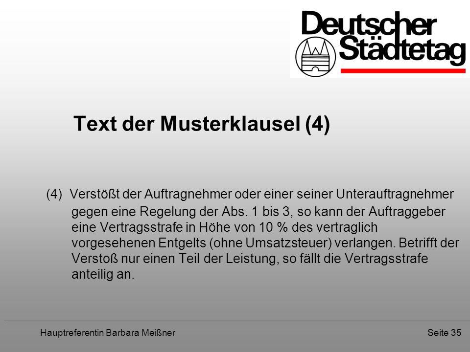 Text der Musterklausel (4)