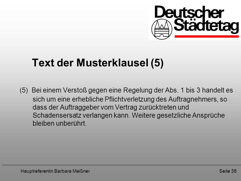 Text der Musterklausel (5)