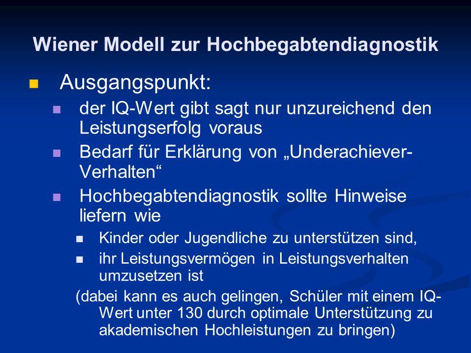 Wiener Modell zur Hochbegabtendiagnostik