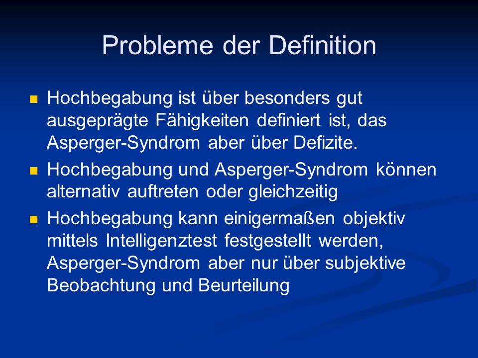 Probleme der Definition