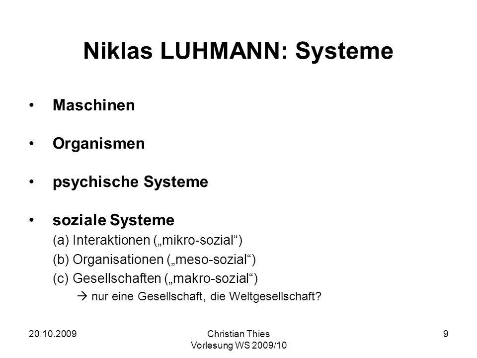 Niklas LUHMANN: Systeme