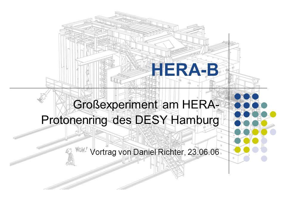 HERA-B Großexperiment am HERA-Protonenring des DESY Hamburg