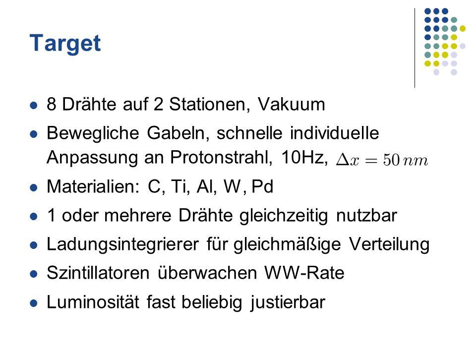 Target 8 Drähte auf 2 Stationen, Vakuum
