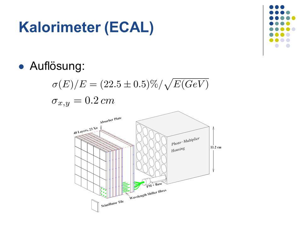Kalorimeter (ECAL) Auflösung:
