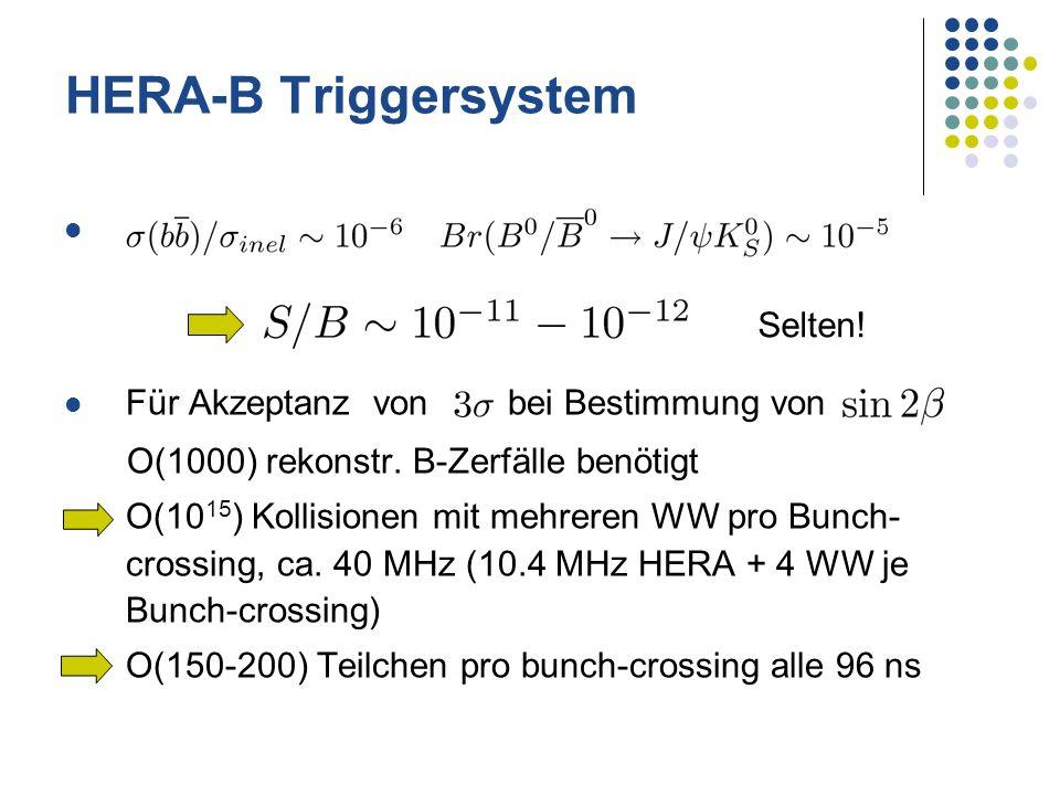 HERA-B Triggersystem Für Akzeptanz von bei Bestimmung von Selten!