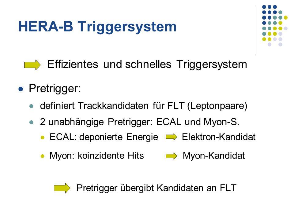 HERA-B Triggersystem Effizientes und schnelles Triggersystem
