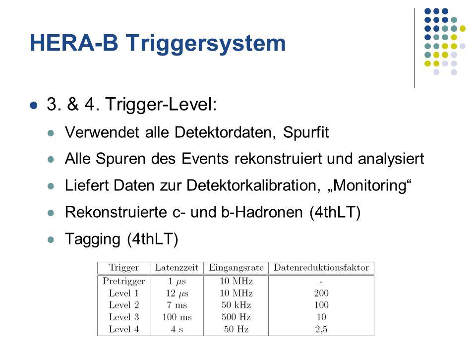 HERA-B Triggersystem 3. & 4. Trigger-Level: