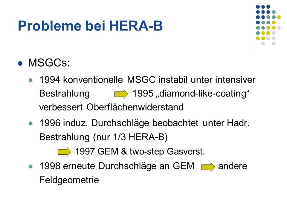 Probleme bei HERA-B MSGCs: