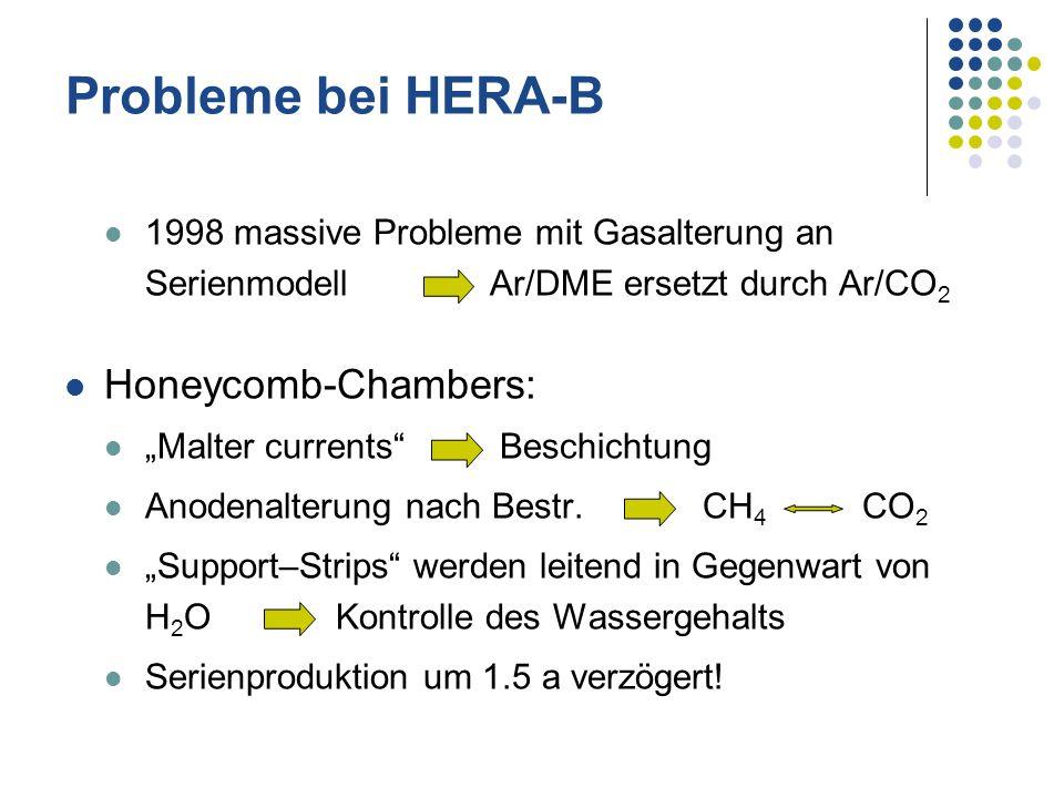 Probleme bei HERA-B Honeycomb-Chambers: