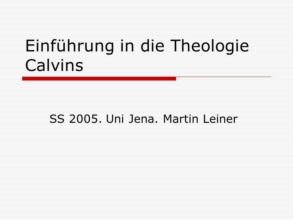 Einführung in die Theologie Calvins