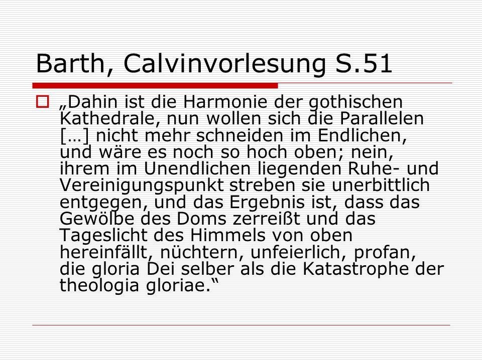 Barth, Calvinvorlesung S.51