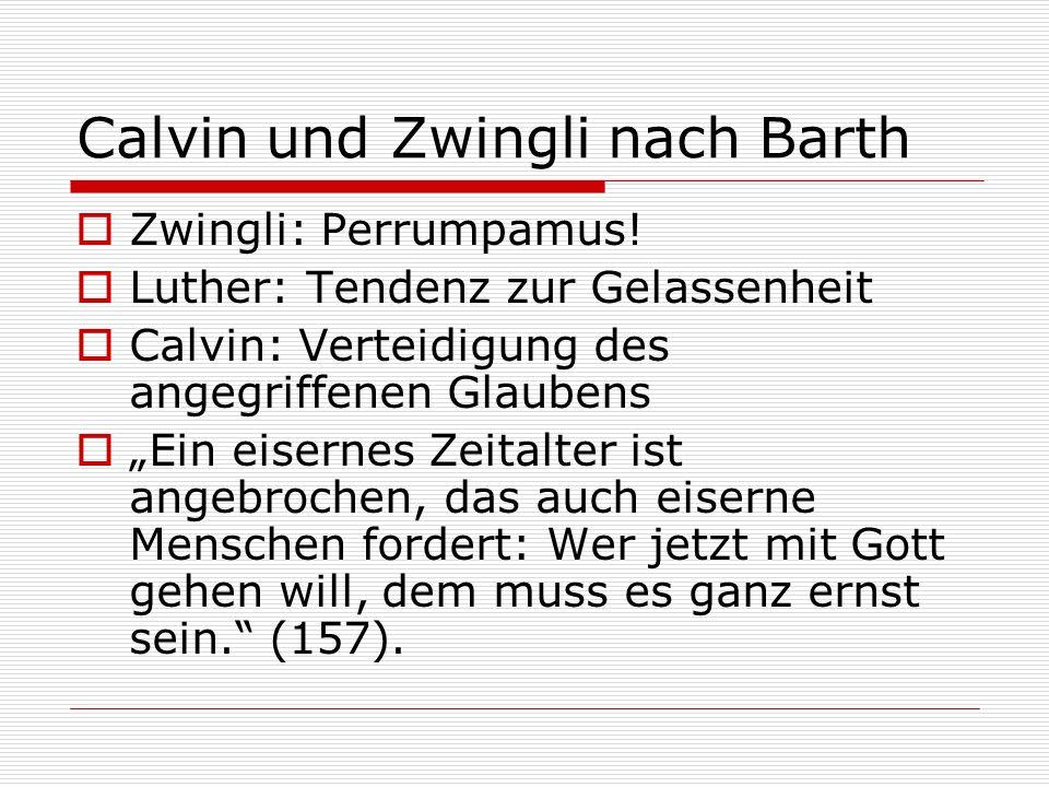 Calvin und Zwingli nach Barth