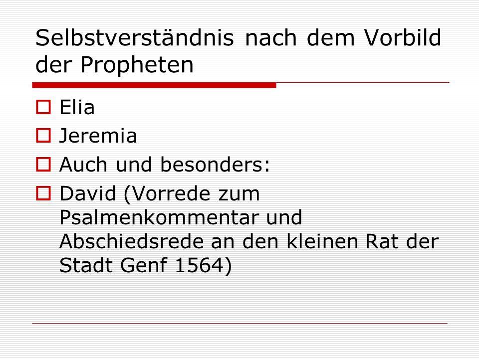 Selbstverständnis nach dem Vorbild der Propheten
