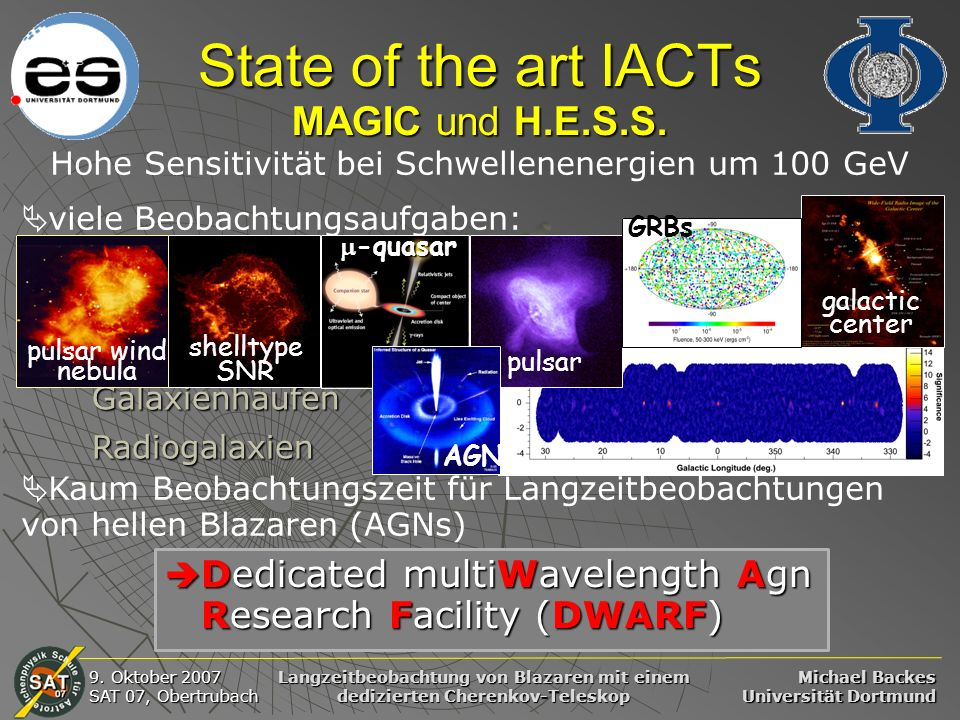 State of the art IACTs MAGIC und H.E.S.S.